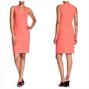 Hugo Boss Dasala V Neck Sheath Dress